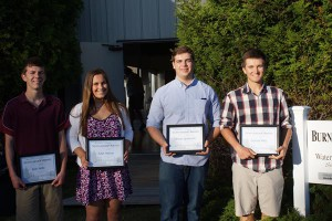 CONGRATULATIONS TO THE 2015 WMCC SCHOLARSHIP RECIPIENTS Kyle Vella, Julia Halsey, Kevin Spolarich, Garrett Pike,